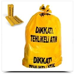 Resim TIBBİ ATIK TORBASI 55X60 ORTA SARI ENFEKTE